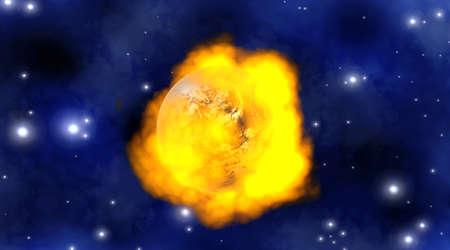 A burning Globe, symbol for global warming  3D rendered illustration Stock Illustration - 13123904