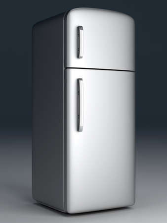 A classic Fridge  3D rendered Illustration  Stock Illustration - 13123782