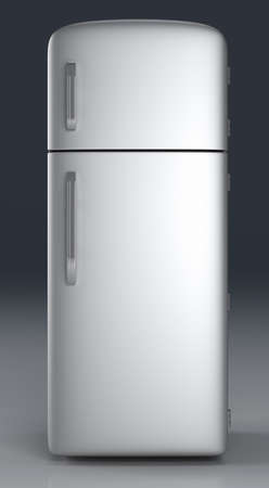 A classic Fridge  3D rendered Illustration