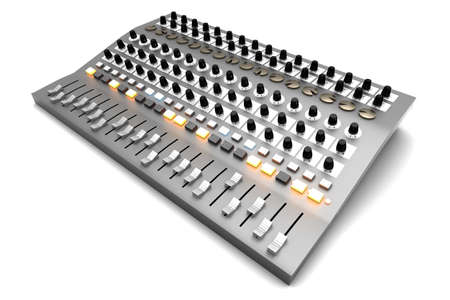 A Mixing board  3D rendered illustration