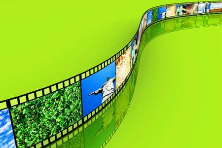 A Photo film  3D rendered Illustration