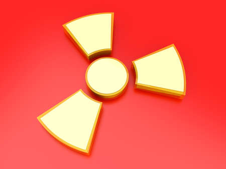 A radioactive warning sign  3D rendered Illustration  Stock Illustration - 13323539