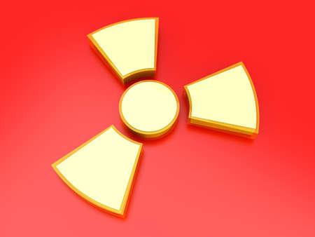 A radioactive warning sign  3D rendered Illustration  illustration