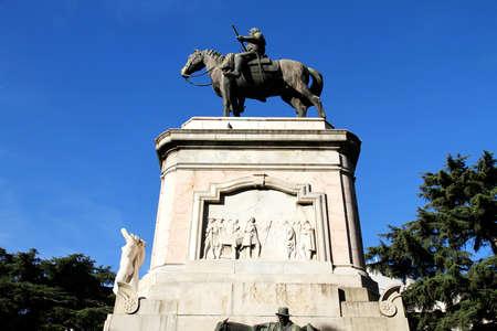 artigas: The statue of Jose Gervasio Artigas in Montevideo, Uruguay