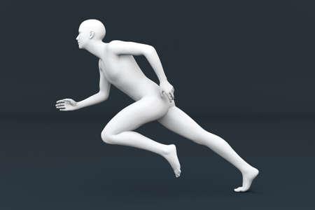 A runner  3D rendered Illustration  illustration