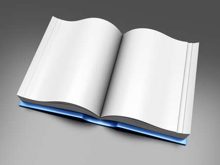 A open Book  3D rendered Illustration  Stock Photo