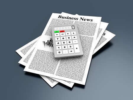 Analyzing for the latest business news  3d rendered Illustration    illustration