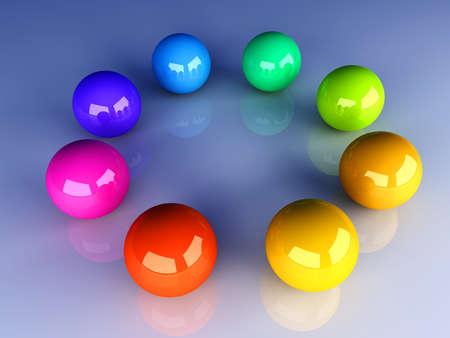 gee: 3D rendered Illustration  A color wheel  Stock Photo