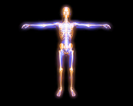 3D rendered visualization of the energy   astral body Stock Photo - 13643675