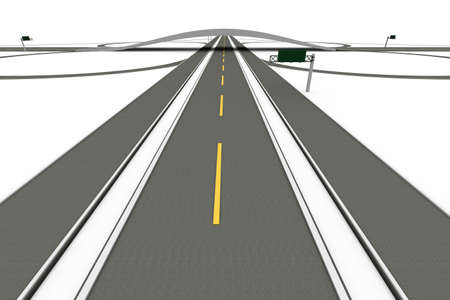 interchange: A Highway interchange  3D rendered Illustration  Isolated on white  Stock Photo