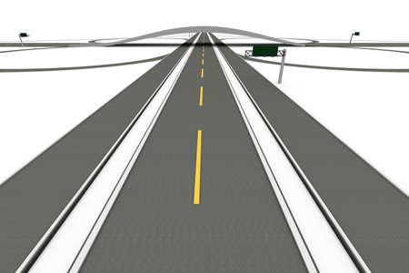 A Highway interchange  3D rendered Illustration  Isolated on white  illustration