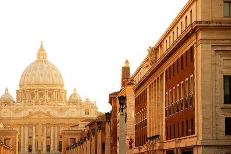 Evening view on the Vatican in Rome, Italy  photo