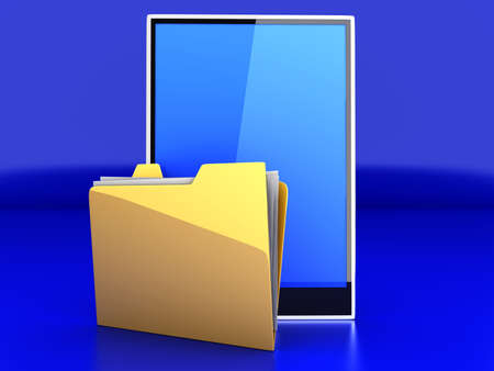 A Tablet PC   Pad device  3D rendered illustration Stock Illustration - 14503701
