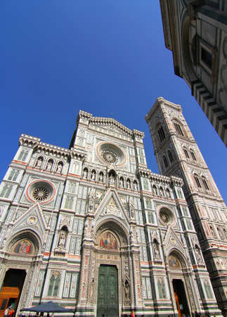 The Basilica of Saint Mary of the Flower  Basilica di Santa Maria del Fiore  in Florence, Italy Stock Photo - 14562366