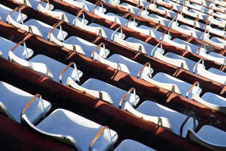 tribune: A empty tribune in Buenos Aires