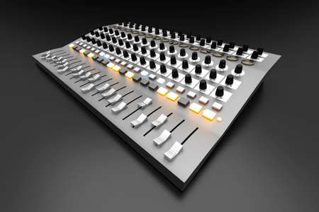player controls: A Mixing board  3D rendered illustration
