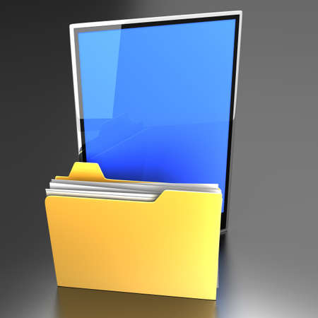 A Tablet PC   Pad device  3D rendered illustration Stock Illustration - 14672291