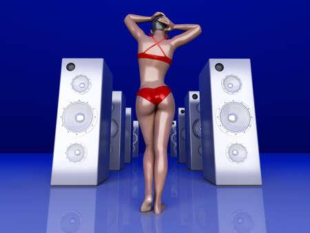 Summer Music  3D rendered Illustration Stock Illustration - 14780361