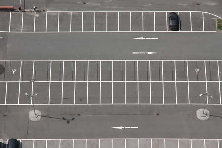 unoccupied: A Parking space from above