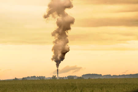 polluting: A factory polluting the environment  Stock Photo