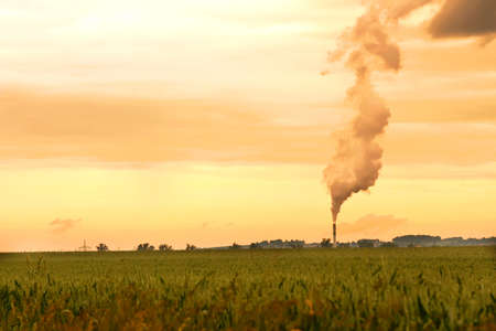 A factory polluting the environment  photo