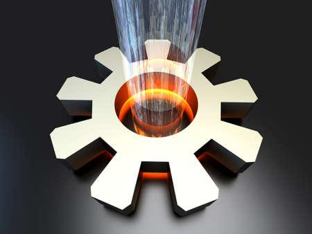configuration: Power configuration  3D rendered Illustration