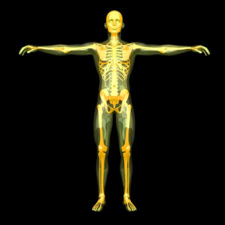 astral body: Visualizaci�n 3D prestados de la energ�a del cuerpo astral Foto de archivo