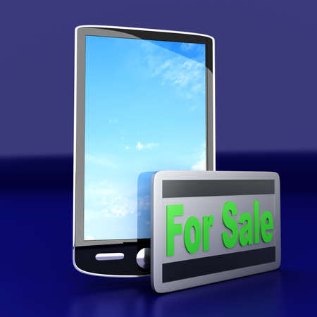 A Smartphone for sale  3D rendered illustration  illustration