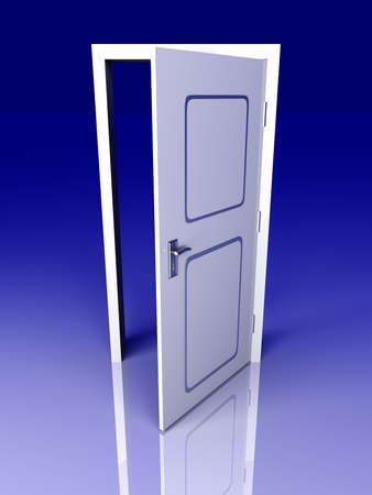 The Door is open for you    3D rendered Illustration   illustration