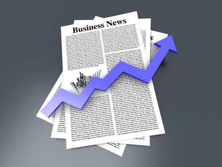Looking for the latest business news  3d rendered Illustration   illustration
