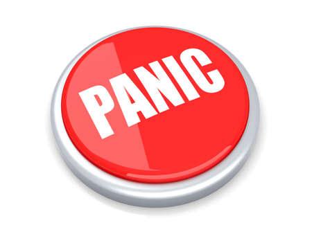 panic button: 3D rendering illustrazione un pulsante antipanico