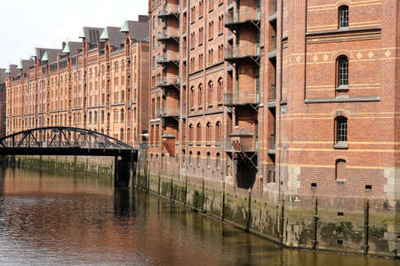 The famous Speicherstadt in Hamburg, Germany, Europe  photo