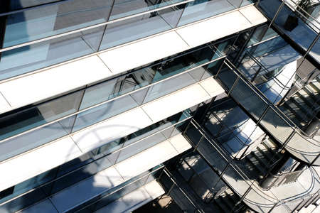 metall and glass: A modern architecture background of a industrial building