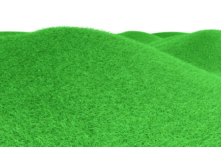 Green Hills  3D rendered Illustration  Isolated on white  Stock Photo