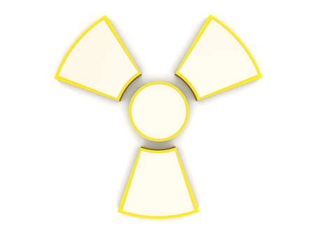 A radioactive warning sign  3D rendered Illustration  Isolated on white Stock Illustration - 15175156