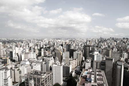 amerique du sud: Skyline of Sao Paulo, au Br�sil, en Am�rique du Sud Banque d'images