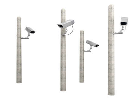 A CCTV surveillance  3D rendered Illustration    illustration