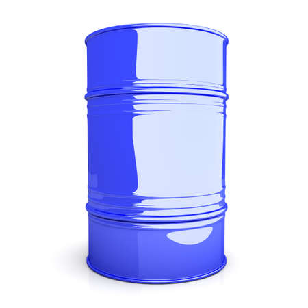 A industrial Barrel  3D rendered Illustration  Isolated on white  Stock Illustration - 15556604