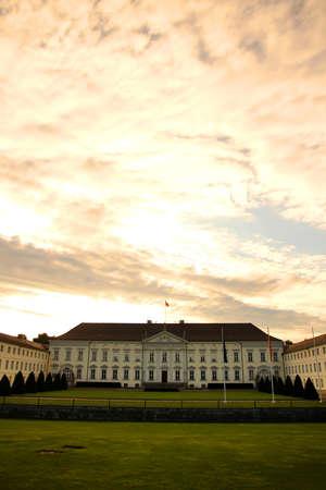 bellevue: The Castle Bellevue, Residence of the Federal President of Germany in Berlin, Germany