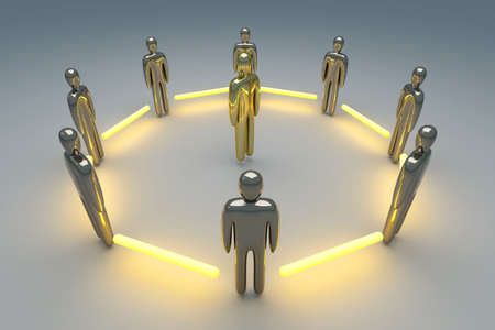 staff team: 3D rendered Illustration  Power of Teamwork
