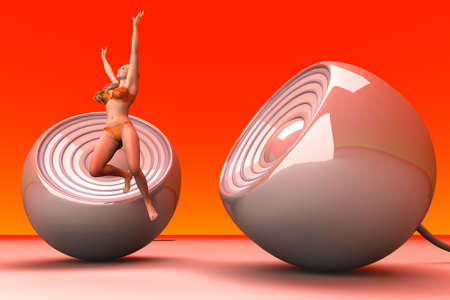 Jumping in Joy  3D rendered Illustration    illustration