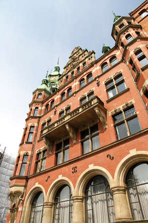 Historic building in the Speicherstadt in Hamburg, Germany, Europe