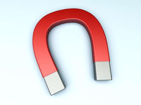 magnetismo: Un imán genérico ilustración 3D prestados Foto de archivo