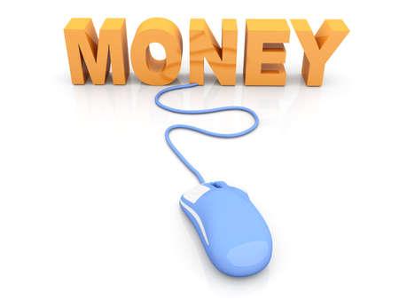 Money online  3D rendered Illustration  Isolated on white Stock Illustration - 16065549