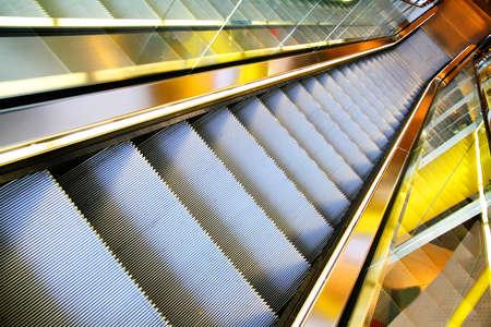 Photo of a modern escalator  photo