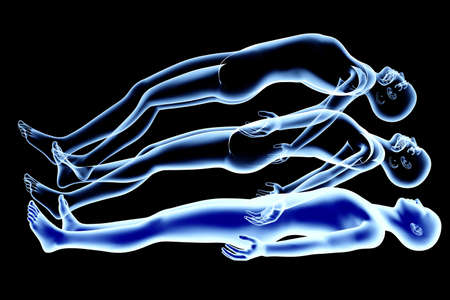 projections: 3d rendered Illustration  Astral Projection  Stock Photo