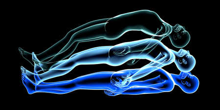 reincarnation: 3d rendered Illustration  Astral Projection  Stock Photo
