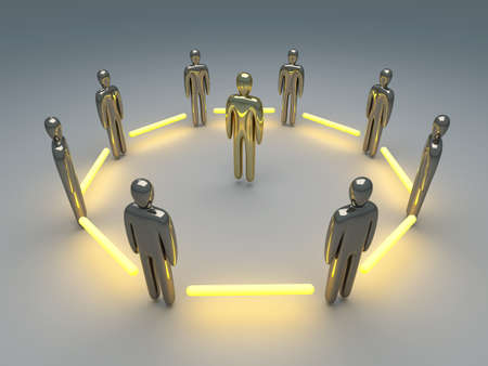 clique: 3D rendered Illustration  Power of Teamwork