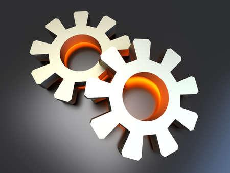 configuration: Energy configuration  3D rendered Illustration