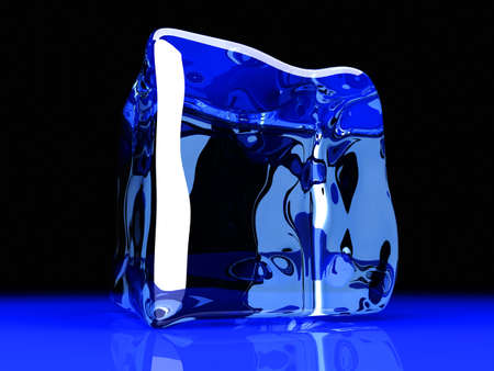froze: 3D rendered Illustration  A Ice cube  Stock Photo